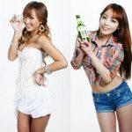 KARAハラ、4Minuteヒョナ、SISTARヒョリンの韓国焼酎CM