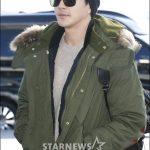 俳優クォン・サンウ、空港ファッション