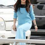 女優ハ・ジウォン、空港ファッション