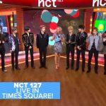 NCT 127 アメリカの朝番組に生出演。新曲『Superhuman』初披露