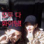 KARA出身ハラ、BIGBANGのG-DRAGONとツーショットを公開