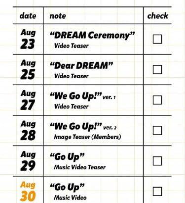 NCT DREAM 9月3日に新アルバム「We Go Up」でカムバック!
