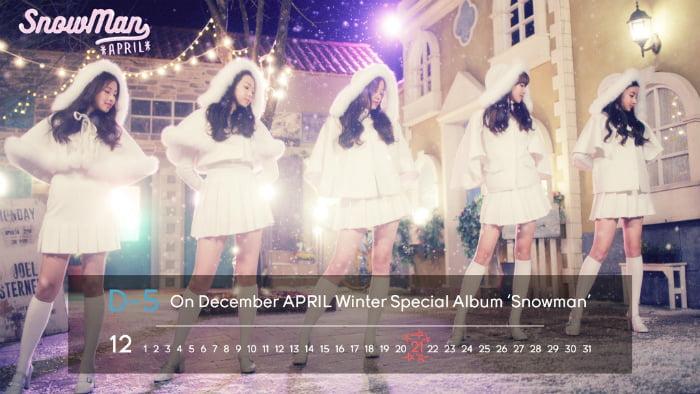 April、冬のスペシャルアルバム「Snowman」イメージを公開